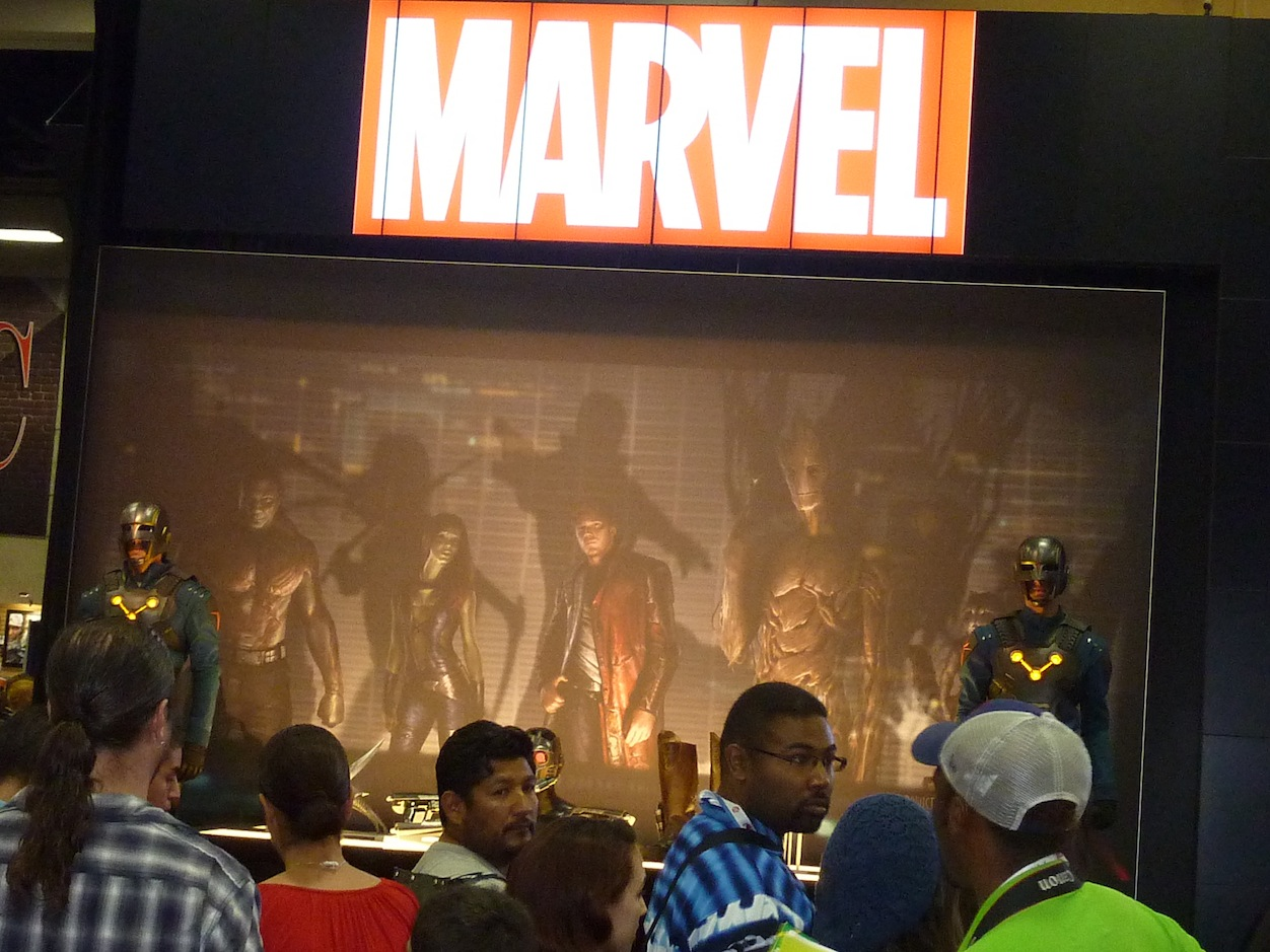 What appears to be Nova Corps Centurions from next year's Guardians of the Galaxy film. Photo by Nolan P. Smith.
