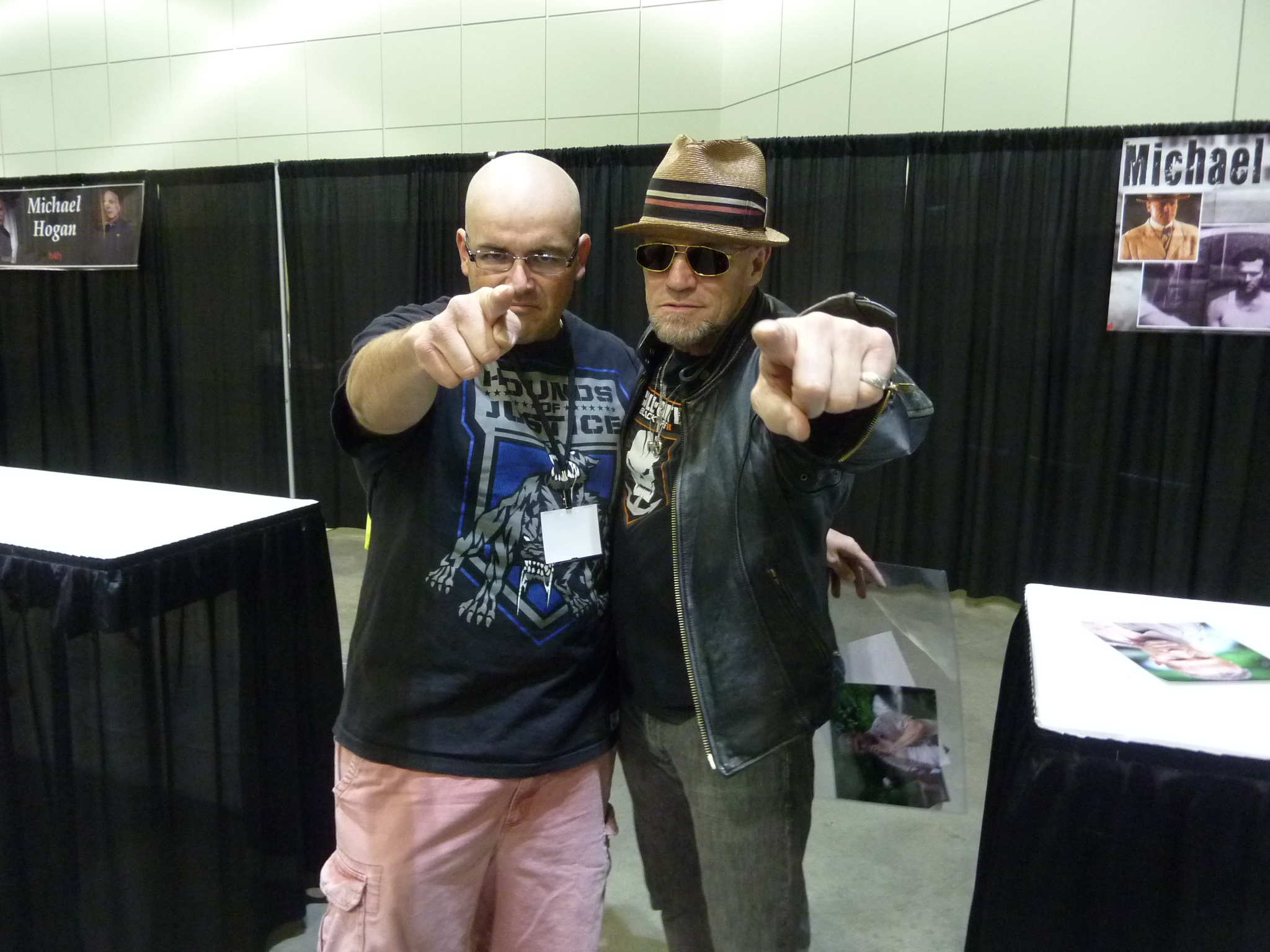 Pastrami Nation's Jason T. Smith with The Walking Dead's Michael Rooker