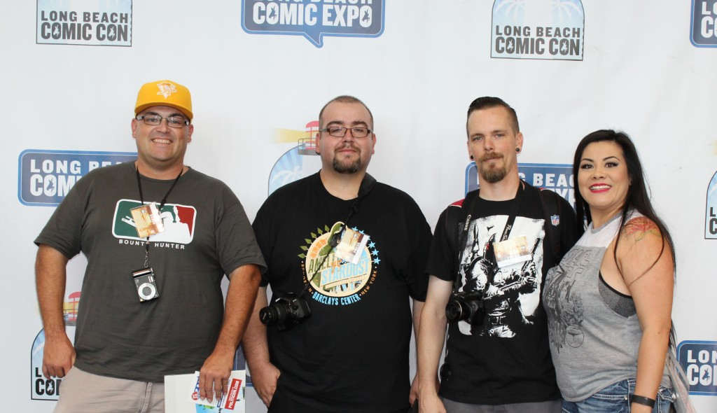 Jason T. Smith, Nolan P. Smith, Jason R. Smith and DimSumHottie at the Long Beach Comic Con 2015.