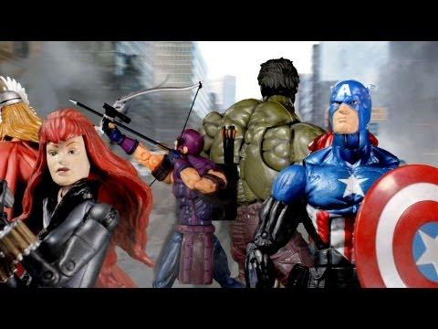 The Avengers Trailer as Marvel Legend Figures!